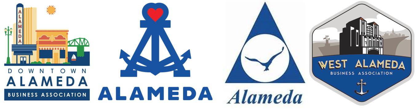 Visit and Shop Alameda Card logo