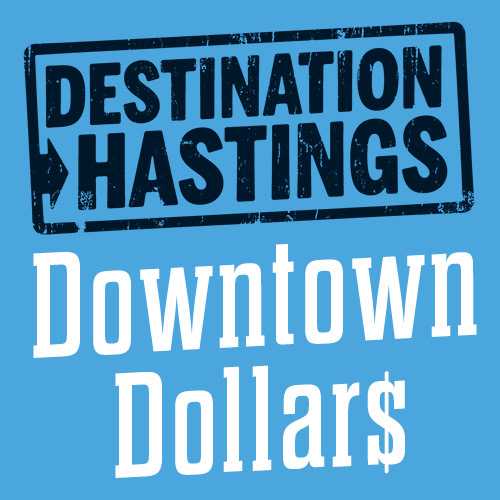 Destination Hastings Downtown Dollars logo